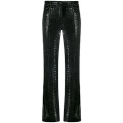 2000s Chanel Black Lurex Trousers