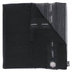 2000s Chanel Black Scarf