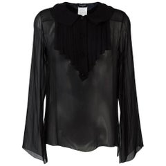 2000s Chanel Black Transparent Shirt
