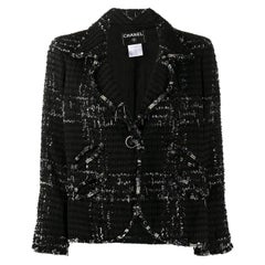 2000s Chanel black Tweed Jacket
