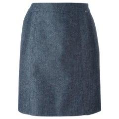2000s Chanel Blue Denim Skirt
