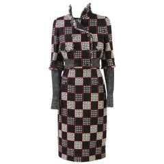 2000s Chanel Checked Skirt Suit
