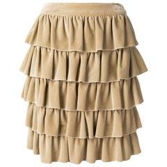 2000s Chanel Flounces Skirt