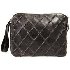 2000s Chanel Vintage Brown Lambskin Shoulder Bag