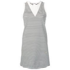 2000s Chanel White And Black Striped Dress