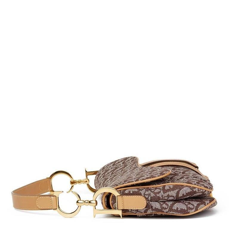Christian Dior Brown Monogram Canvas Saddle Bag This Christian Dior Saddle  Bag is in Excellent Pre 345cb3cbb707e