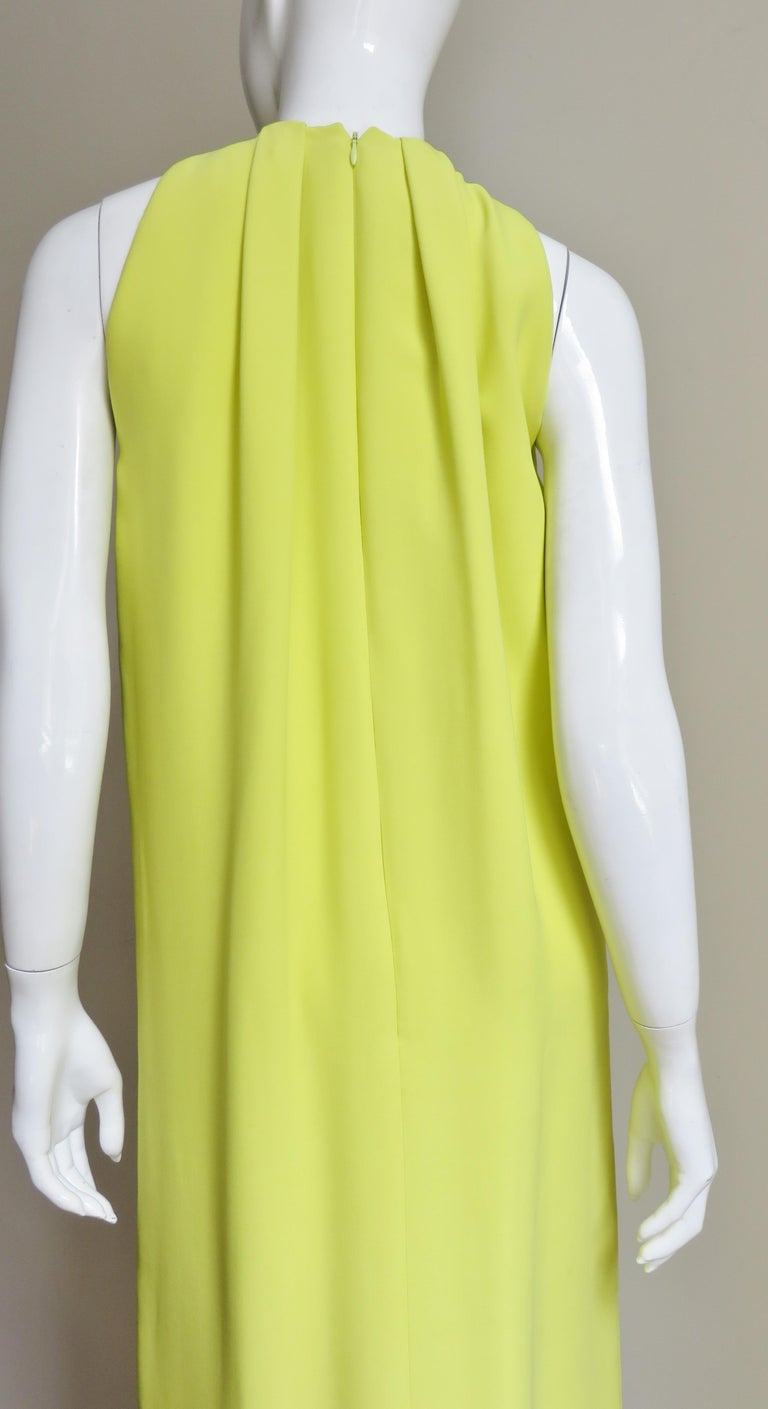 Christian Dior New Citron Silk Gown For Sale 5