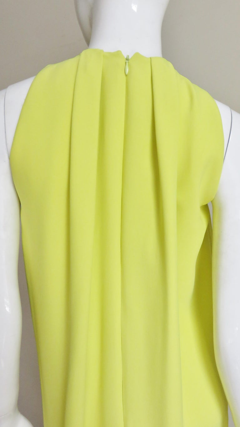 Christian Dior New Citron Silk Gown For Sale 6