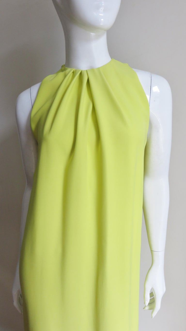 Christian Dior New Citron Silk Gown In Excellent Condition For Sale In New York, NY