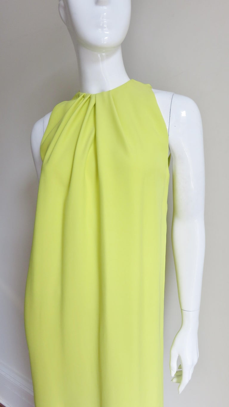 Women's Christian Dior New Citron Silk Gown For Sale