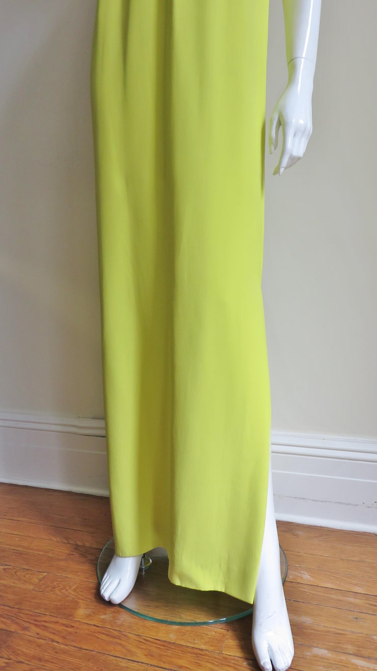 Christian Dior New Citron Silk Gown For Sale 1