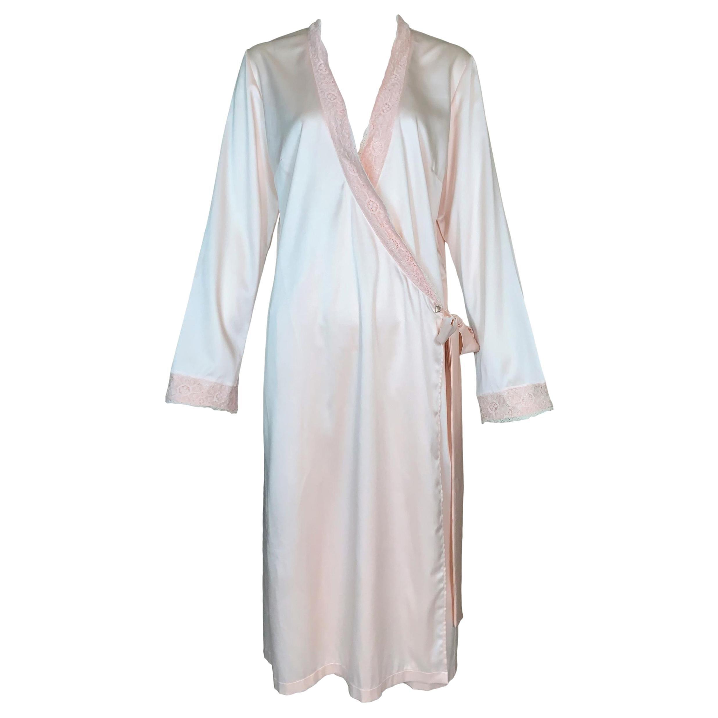 2000's Christian Dior John Galliano Pastel Pink Satin Robe Dress