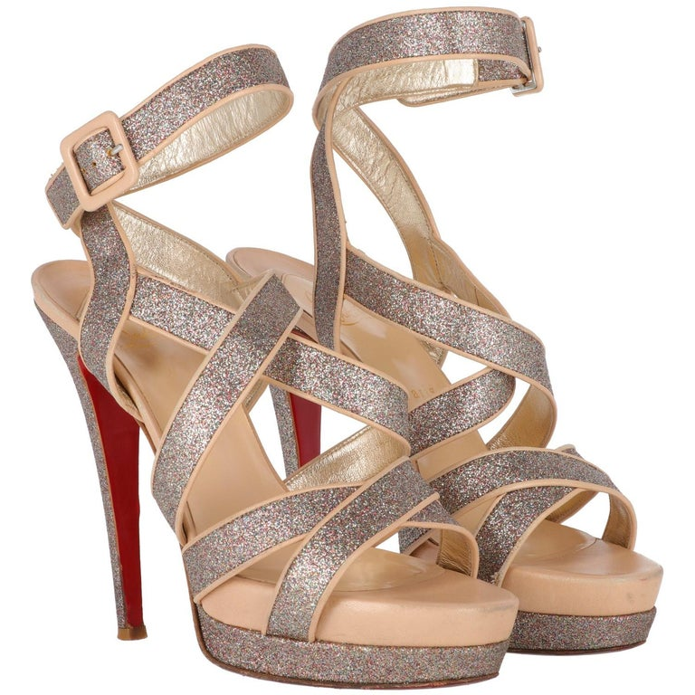 uk availability 28522 3e24e 2000s Christian Louboutin Glitter Heels