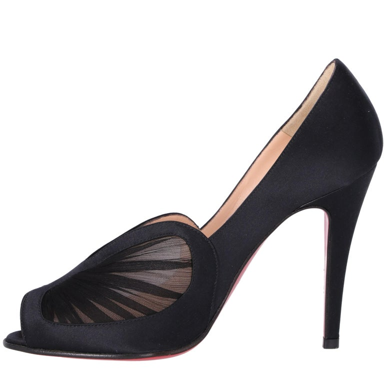 2000s Christian Louboutin Silk And Satin Heels For Sale 2