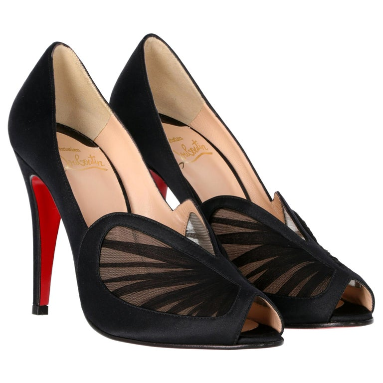 2000s Christian Louboutin Silk And Satin Heels For Sale