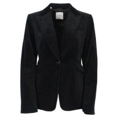 2000s Costume National black cotton corduroy jacket