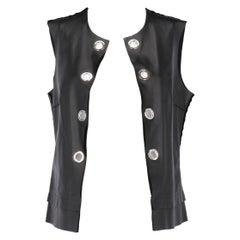 2000s Costume National Black Leather Vest