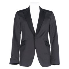 2000s Costume National Black Satin Jacket