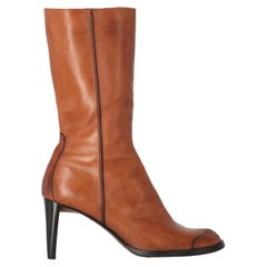 2000s Costume National Brown Leather Boots
