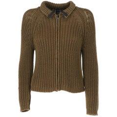 2000s Cp Company Green Knit Cardigan