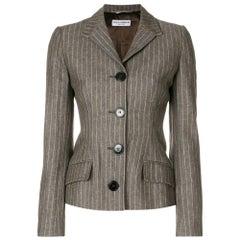 2000s Dolce & Gabbana Brown Pinstripe Jacket