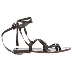 2000s Dolce & Gabbana Lace-Up Sandals