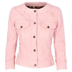 2000s Dolce & Gabbana Pink Denim Jacket