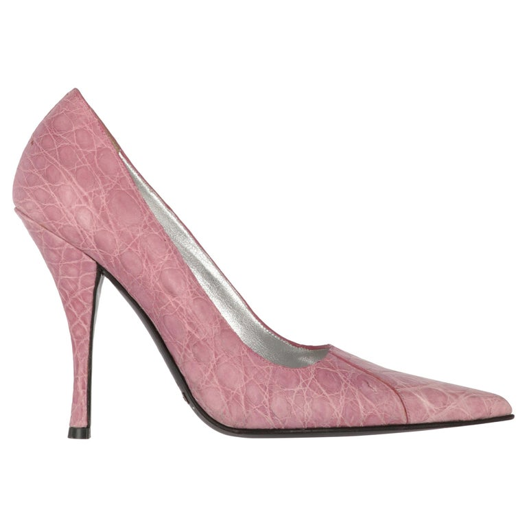 2000s Dolce & Gabbana Pink Leather Pumps For Sale