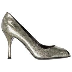2000s Dolce & Gabbana Silver Glitter Pumps