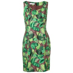 2000s Dolce&Gabbana Leaves Pattern Dress