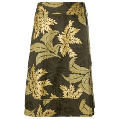 2000s Dries Van Noten Printed Trapeze Skirt