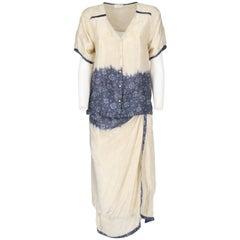2000s Dries Van Noten Silk Skirt Suit