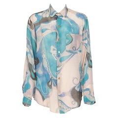 2000s Emilio Pucci Abstract Print Shirt