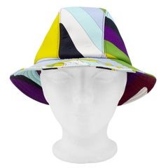 2000's Emilio Pucci Neoprene Multicoloured Bucket Hat