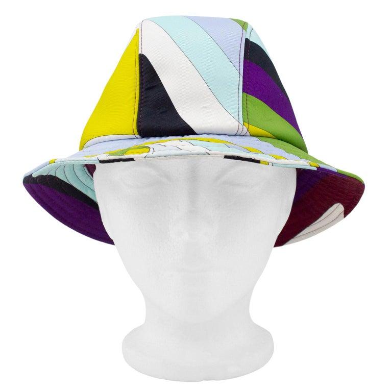2000's Emilio Pucci Neoprene Multicoloured Bucket Hat For Sale