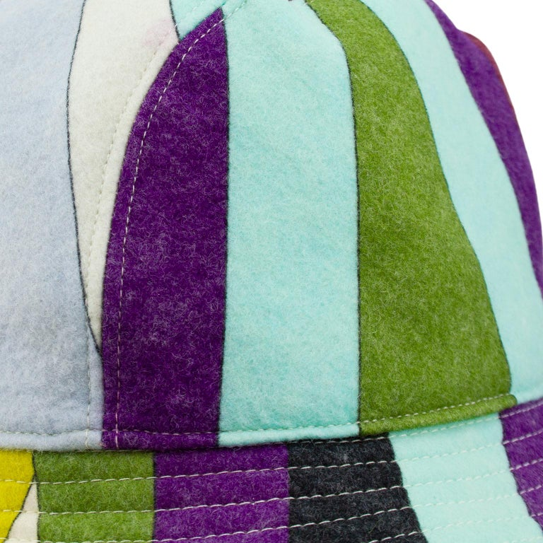 2000's  Emilio Pucci Multicoloured Wool Bucket Hat  In Good Condition For Sale In Toronto, Ontario