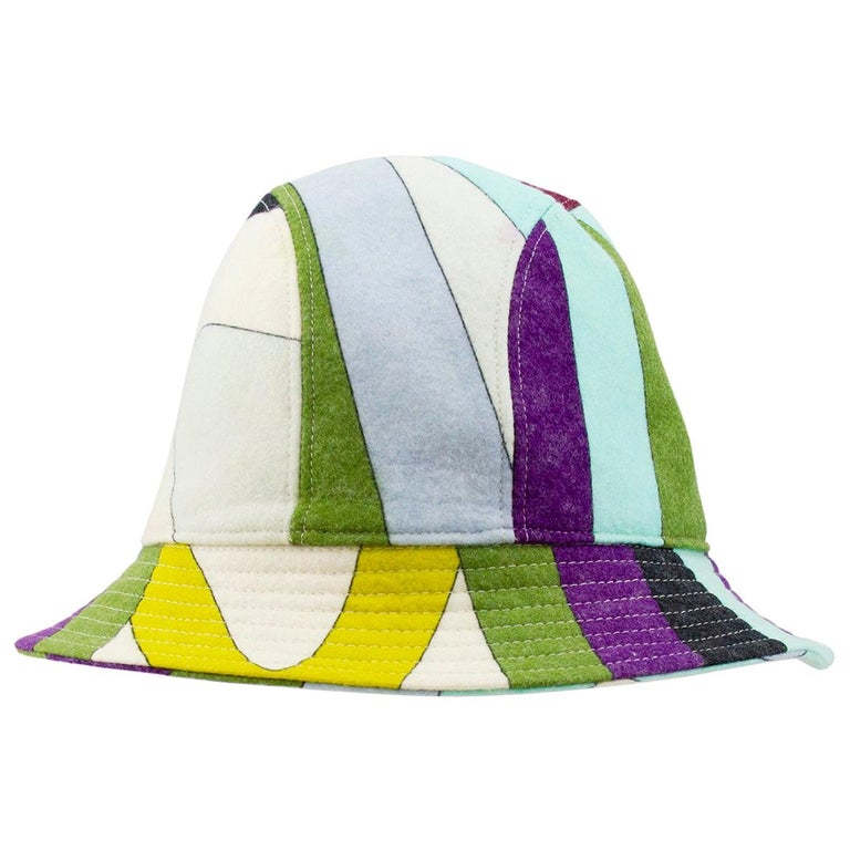 2000's  Emilio Pucci Multicoloured Wool Bucket Hat  For Sale