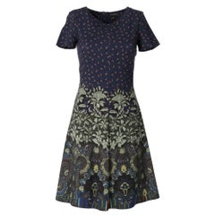2000s Etro knee-lenght dress paisley and floral printed