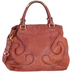 2000s Etro Rosewood Leather Tote Bag