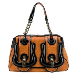 2000s  Fendi Brown Leather Handbag