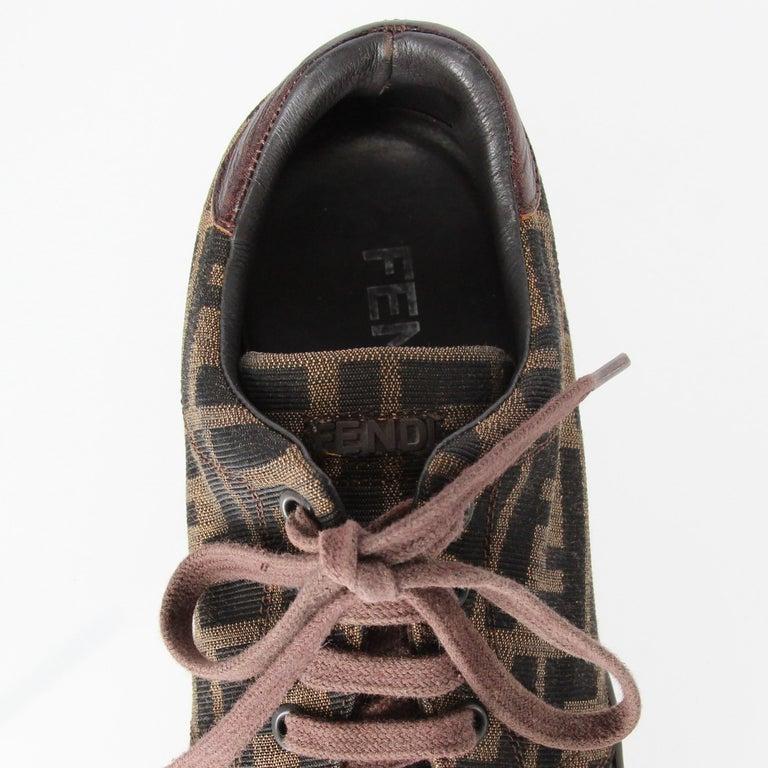2000s Fendi Monogram Lace-up Shoes For Sale 5