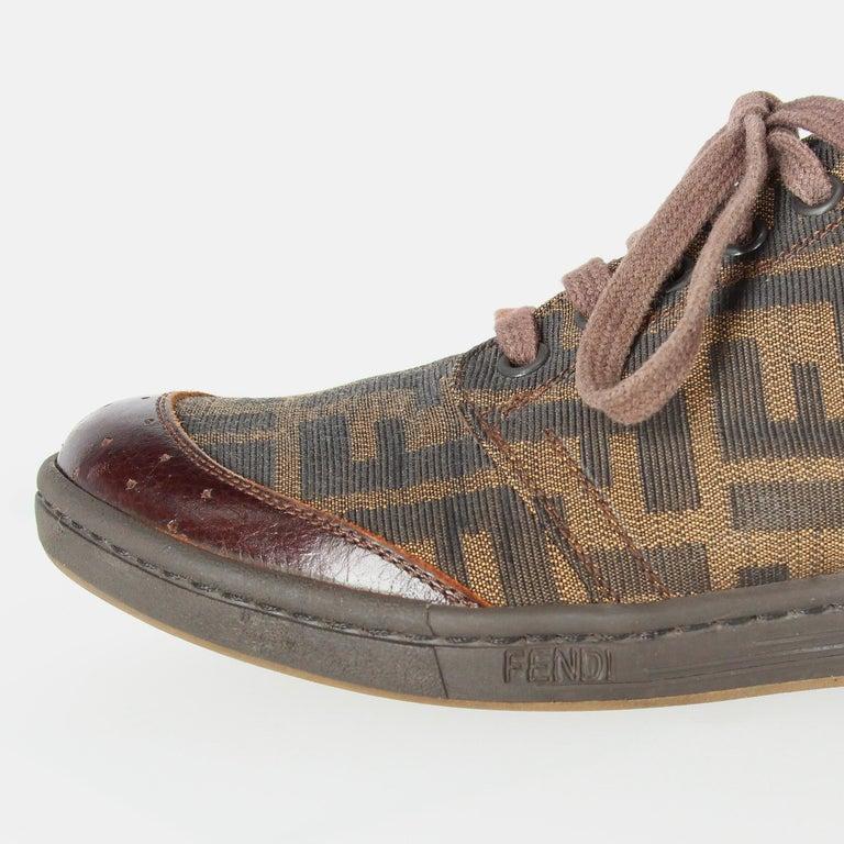 2000s Fendi Monogram Lace-up Shoes For Sale 6