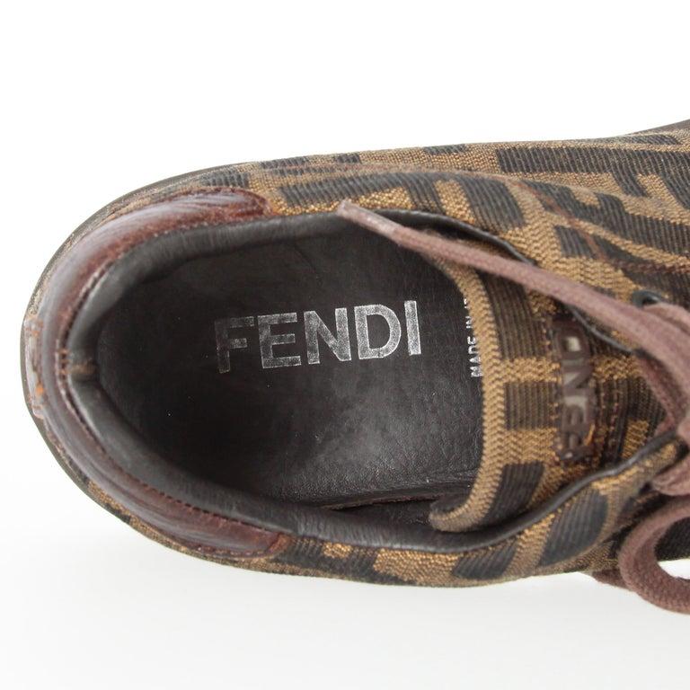 2000s Fendi Monogram Lace-up Shoes For Sale 7