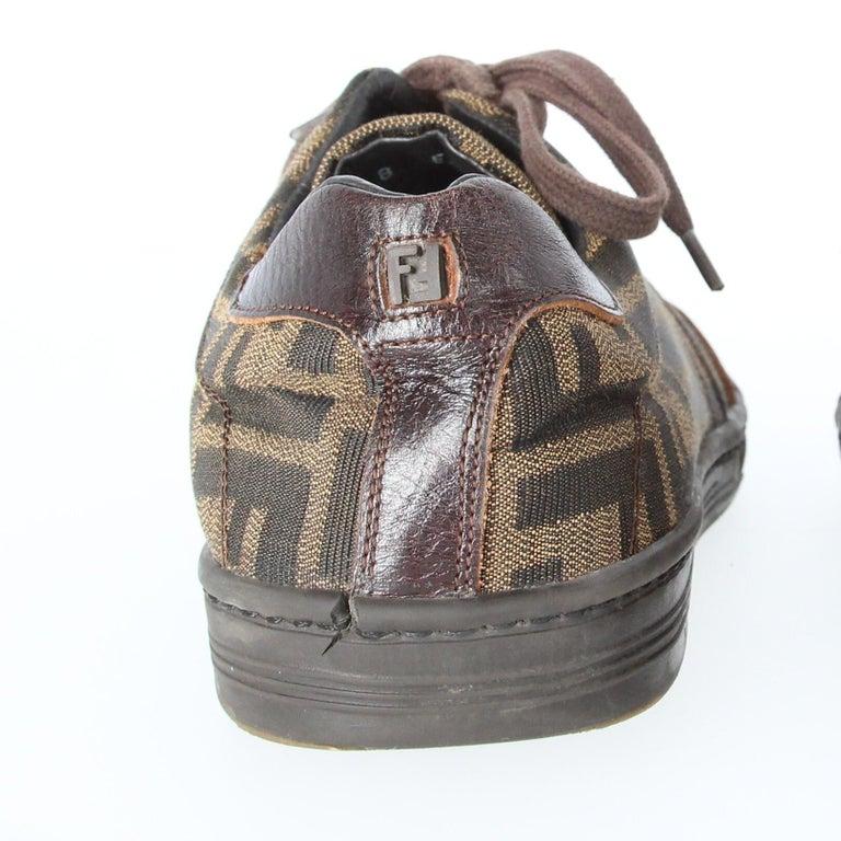 2000s Fendi Monogram Lace-up Shoes For Sale 8