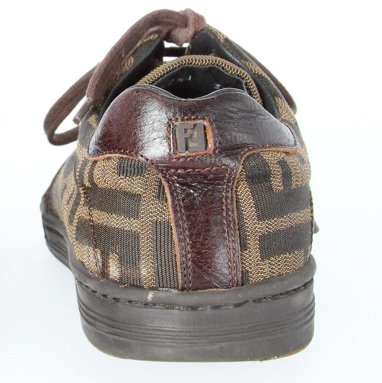 2000s Fendi Monogram Lace-up Shoes For Sale 9