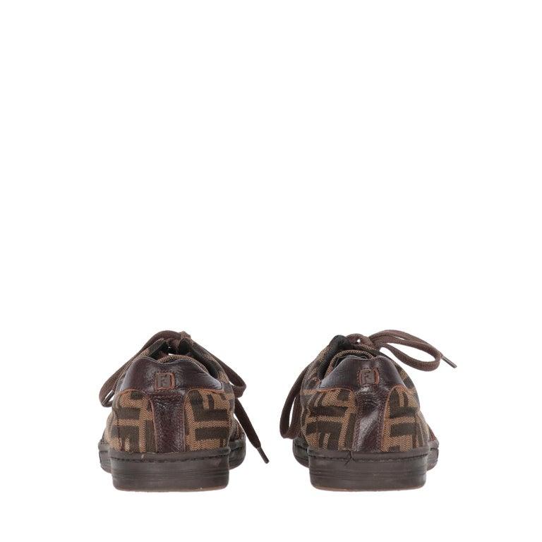 Women's 2000s Fendi Monogram Lace-up Shoes For Sale