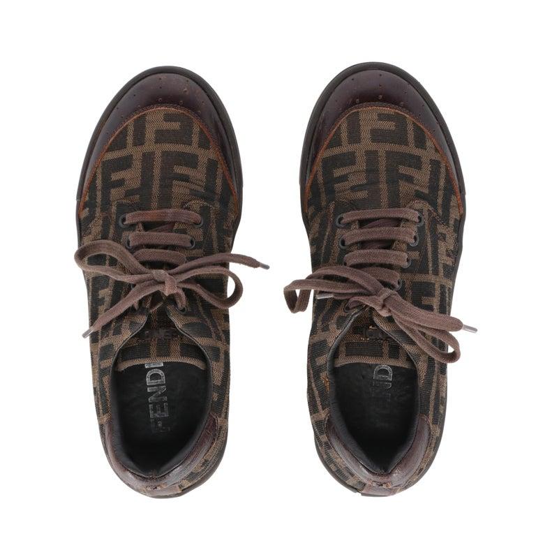 2000s Fendi Monogram Lace-up Shoes For Sale 1