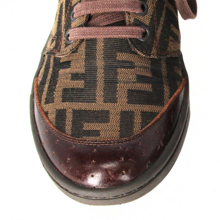 2000s Fendi Monogram Lace-up Shoes For Sale 3
