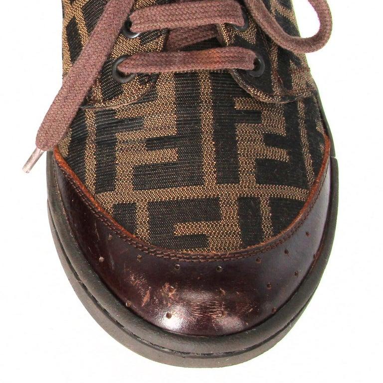 2000s Fendi Monogram Lace-up Shoes For Sale 4