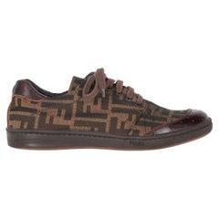 2000s Fendi Monogram Lace-up Shoes